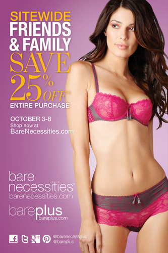 Bare Necessities 25% OFF Friends & Family Sale is here, for a limited time only!  (PRNewsFoto/Bare Necessities)