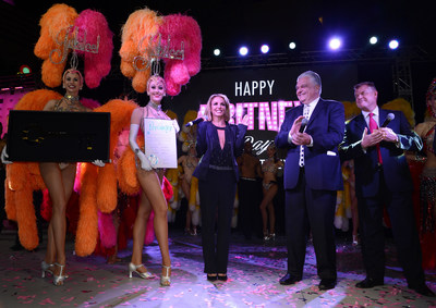 Planet Hollywood Resort & Casino headliner Britney Spears is presented with Key to the City of Las Vegas' iconic Strip (PRNewsFoto/Planet Hollywood Resort & Casino)