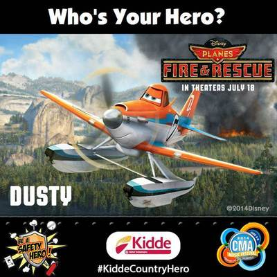 Disney Planes: Fire & Rescue, Country Music and Fire Safety Combine to Celebrate Everyday Heroes at the 2014 CMA Music Festival (PRNewsFoto/Kidde)
