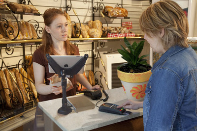 Revel iPAD POS with EMV enabled device for iPad POS systems.  (PRNewsFoto/Revel Systems)
