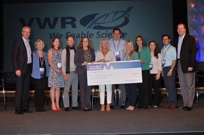 Jim Bramwell, VWR Foundation President (far right), honored VWR sales members from the West Region at the company's American Sales Conference. The team selected the Leukemia & Lymphoma Society to be the recipient of their $40,000 donation.