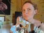 Zoia Skoropadenko in her art studio (PRNewsFoto/Zoia Art Studio)