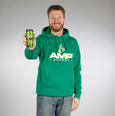 Dale Earnhardt Jr. shows off his new, limited time offer AMP Energy Dale Jr. Sour can, available exclusively at participating 7-Eleven stores.