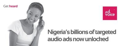Nigeria's Billions of Targeted Audio Ads Now Unlocked (PRNewsFoto/AdVoice)