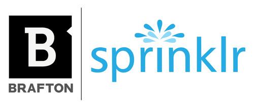 Brafton and Sprinklr Logo.  (PRNewsFoto/Brafton)