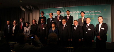 The GGGI Leaders' Gathering, held on the occasion of the United Nations Climate Summit 2014 in New York, was attended by a number of high-level officials, including heads of state. (PRNewsFoto/Global Green Growth Institute)