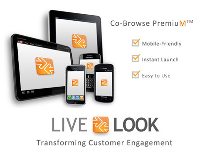 LiveLOOK, the leading developer of visual collaboration tools for customer service, has launched a new mobile-friendly, instant-launch, universally compatible co-browsing solution built with the patented privacy and security options LiveLOOK is known for. Companies can enable or block agents from viewing any combination of websites, domains or desktop applications needed in order to help customers quickly and accurately, the first time they call or chat.  (PRNewsFoto/LiveLOOK)