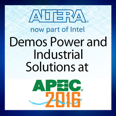 Altera, now a part of Intel Corporation, will be in booth #2253 at the Applied Power and Electronics Conference, which is being held from March 21-24, 2016, at the Long Beach Convention Center. Attendees will see demonstrations of the latest field programmable gate arrays (FPGAs) and Enpirion power management solutions, as well learn how to use FPGAs to enable intelligent battery management for smart grids.