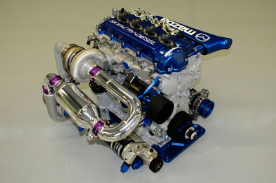 Mazda SKYACTIV Diesel engine for racing.  (PRNewsFoto/Mazda Motorsports)