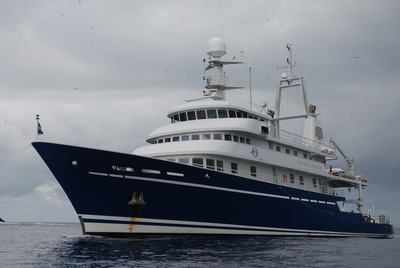 The M/Y Golden Shadow. Research vessel supporting the Khaled bin Sultan Living Oceans Foundation's coral reef research in French Polynesia during 2012 and 2013.  (PRNewsFoto/Khaled bin Sultan Living Oceans Foundation)