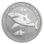 2014 1/2 oz Silver Australian Great White Shark.  (PRNewsFoto/APMEX Inc.)
