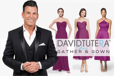 Bridesmaid dress maker, Gather & Gown, announced a partnership with celebrity wedding planner and TV host David Tutera to create the David Tutera for Gather & Gown bridesmaid collection. All styles in the company's current collection will be offered under the David Tutera for Gather & Gown brand name. Look for David's 2017 collection to be infused with even more of David's personal touch of glamour.