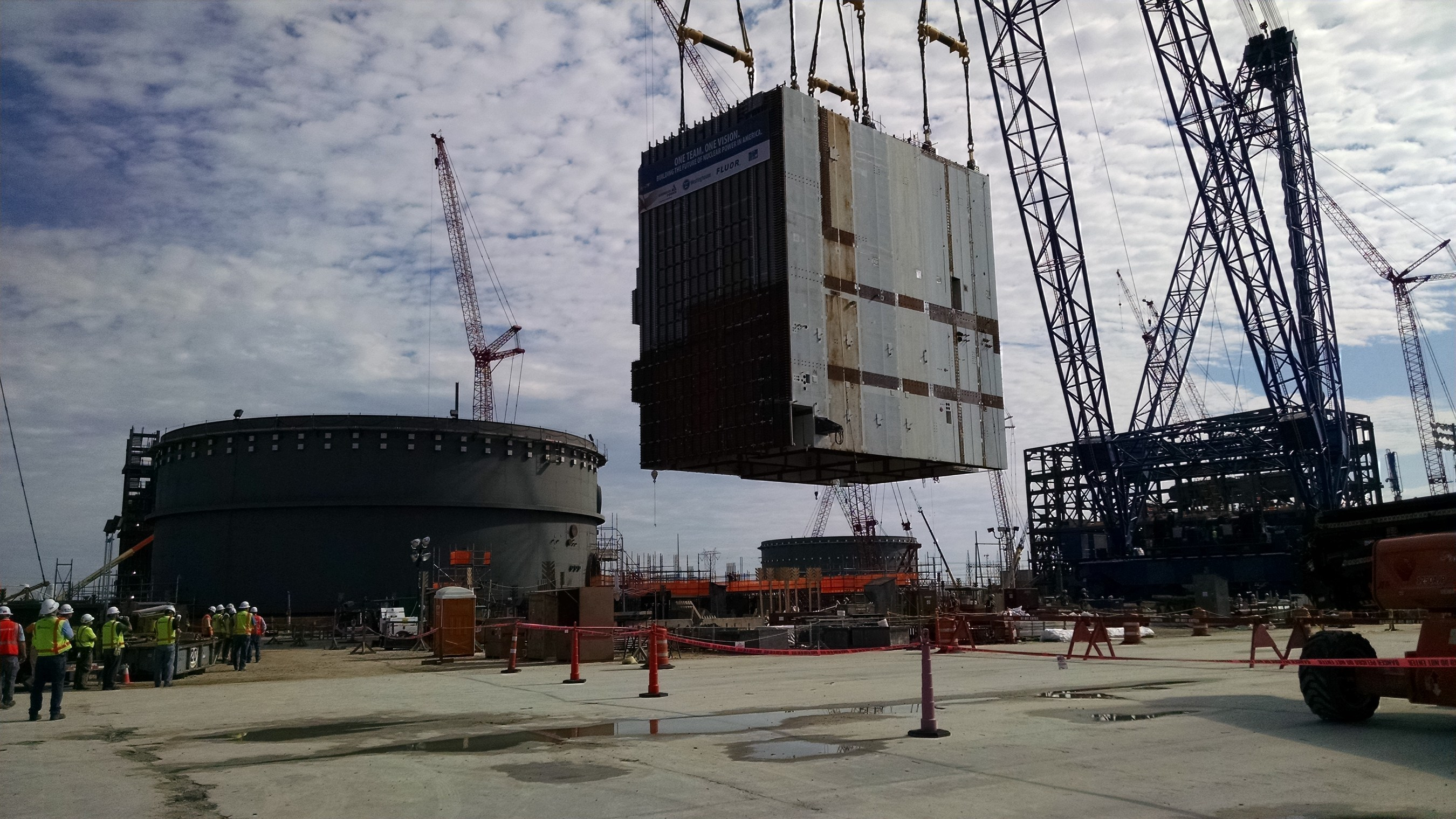 On Saturday, Aug. 20, the project team at the Vogtle nuclear expansion near Waynesboro successfully placed the CA20 module into the Unit 4 nuclear island. With a footprint of approximately 67 feet long by 47 feet wide, the critical module will house various plant components, including the used fuel storage area.