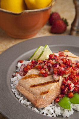 Heart Healthy Grilled Salmon with Strawberry Salsa