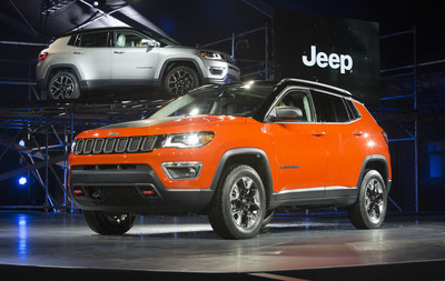 All-new 2017 Jeep® Compass makes North American debut at the Los Angeles Auto Show. Compass expands the Jeep brand's global vehicle reach with a world-class compact SUV that enters a growing segment worldwide delivering legendary benchmark capability. Built in four countries – with 17 powertrain combinations – it will be available for markets all around the world.