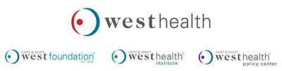 Solely funded by philanthropists Gary and Mary West, West Health includes the nonprofit and nonpartisan Gary and Mary West Health Institute and Gary and Mary West Foundation in San Diego, and the Gary and Mary West Health Policy Center in Washington D.C. All of these organizations are working together toward a shared mission dedicated to enabling seniors to successfully age in place with access to high-quality health and support services that preserve and protect seniors' dignity, quality of life and independence. For more information, visit westhealth.org and follow @westhealth.