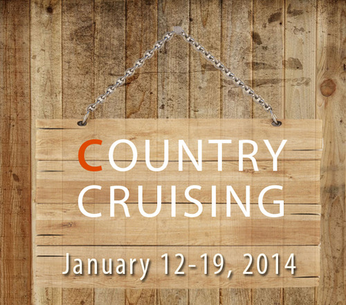 Join Trace Adkins, Montgomery Gentry, Wynonna and 23 other country stars for Country Cruising, January 12-19, 2014.  (PRNewsFoto/Flying Dutchmen Travel)