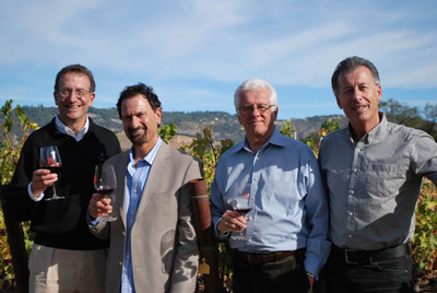 BCM Wineworks Management Team (L-R) Sam Bronfman, Chairman; Jay Soloff, Vice President of National Sales; Bill Piersol, Senior Advisor of Marketing & Planning, Steve Cousins, President.  (PRNewsFoto/Bacchus Capital Management, LLC)