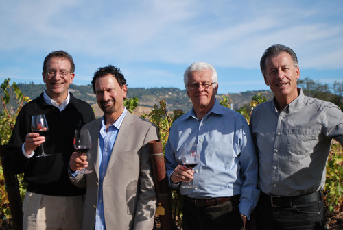 BCM Wineworks Management Team (L-R) Sam Bronfman, Chairman; Jay Soloff, Vice President of National Sales; Bill ...
