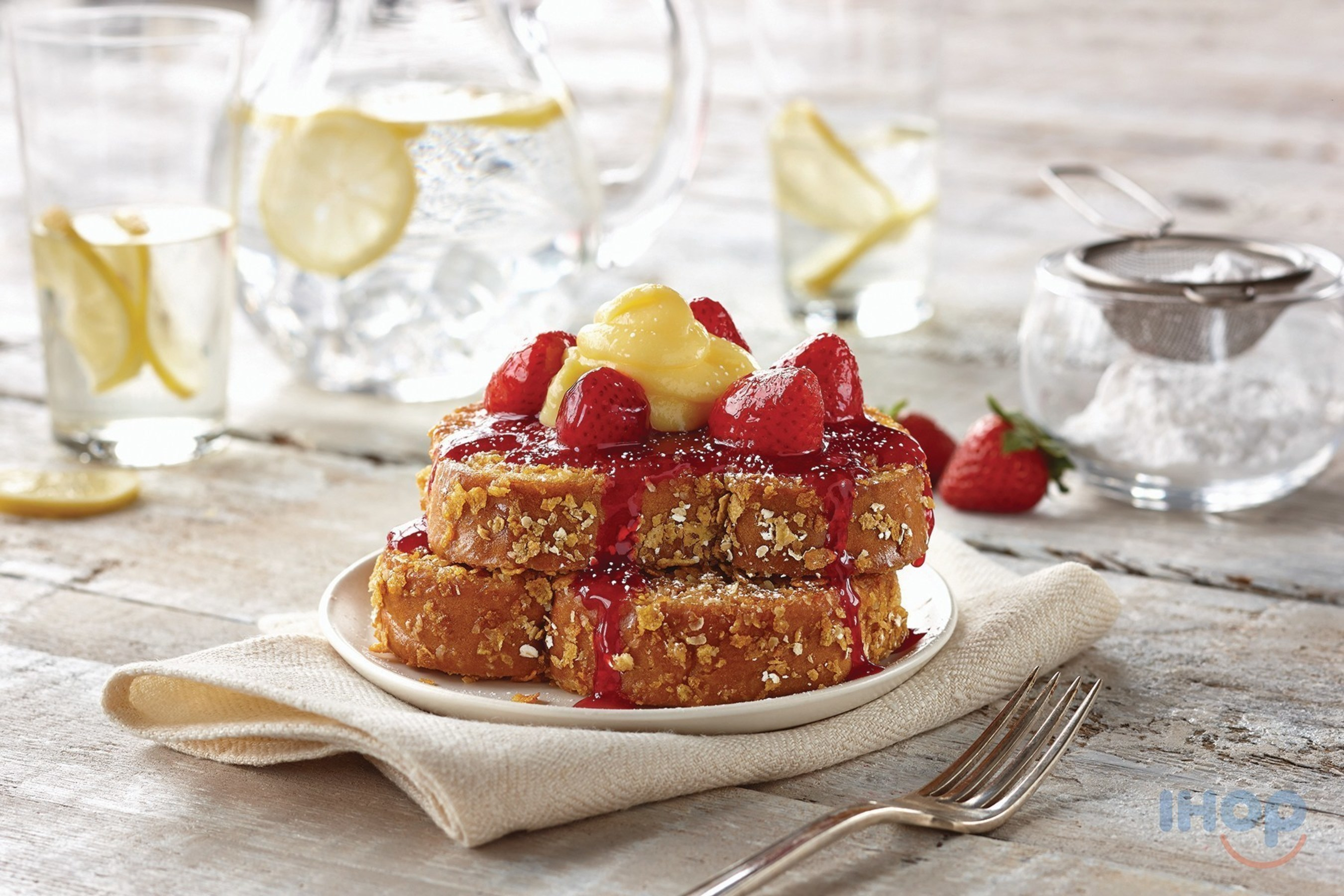 Lemon Strawberry Double-Dipped French Toast