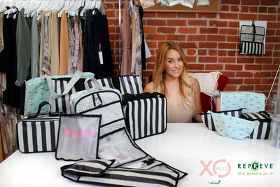 Lauren Conrad's Blue Avocado XO(eco) collection of stylishly sustainable lifestyle bags, all made with REPREVE.  (PRNewsFoto/Unifi, Inc.)