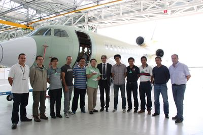 Dassault Falcon's Certified Practical Training Program has passed the 300th trainee mark