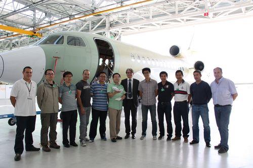 Dassault Falcon Practical Training Program Graduates 300th Trainee