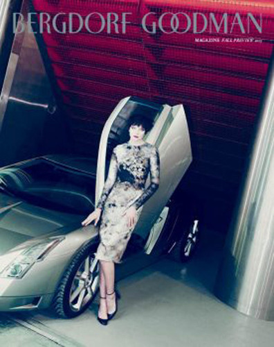 The June edition of Bergdorf Goodman's fashion magazine will feature Cadillac as a tribute to 20th century ...