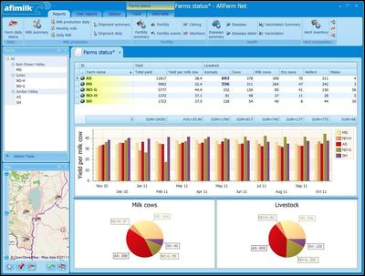 Screen shot from new AfiFarm software