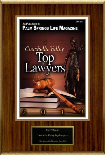 "Barry Regar Selected For ""Coachella Valley Top Lawyers"".  (PRNewsFoto/American Registry)"