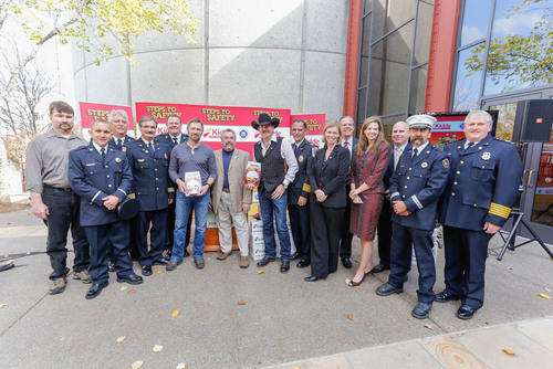 Country Singer Craig Morgan joins Kidde and fire service leaders to promote steps to safety. (PRNewsFoto/Kidde)  ...