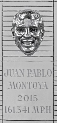 The three-dimensional sterling silver image of 2015 Indianapolis 500 winner Juan Pablo Montoya was unveiled on the iconic Borg-Warner Trophy, which features every winner of the Indianapolis 500 dating back to Ray Harroun in 1911.