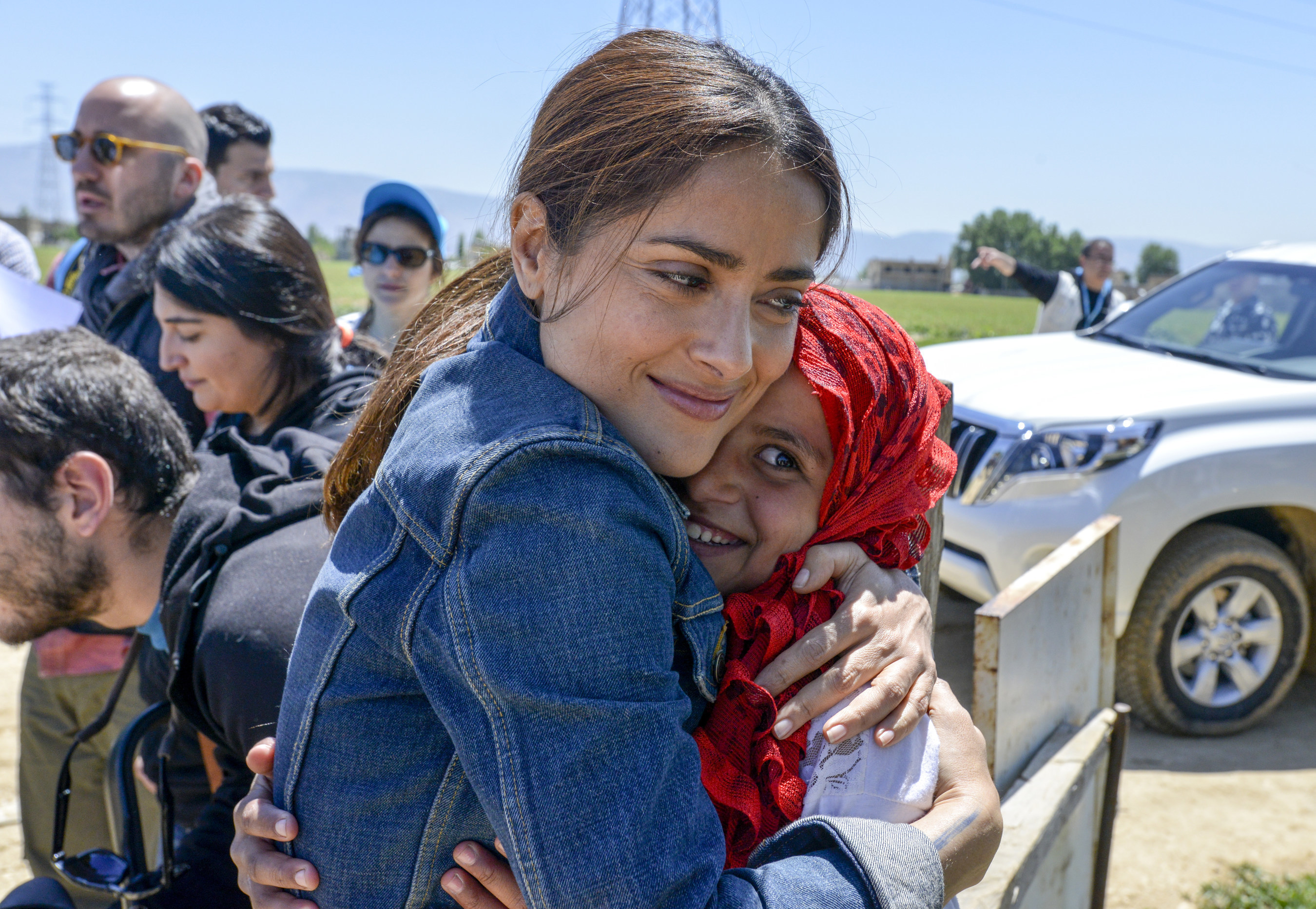 UNICEF supporter and CHIME FOR CHANGE campaign Co-Founder Salma Hayek visited Syrian refugees in Lebanon with UNICEF on April 25 to draw attention to the urgent humanitarian needs of children whose lives have been upended by the conflict in Syria. Hayek helped launch CHIME for the Children of Syria, a fundraising appeal to support children and families affected by the crisis. Founded by Gucci, a longtime UNICEF partner, CHIME FOR CHANGE is a global campaign to raise funds and awareness...