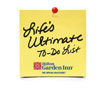 Hilton Garden Inn Launches 'Life's Ultimate To-Do List Contest'