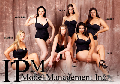 Plus Size Models Sizzle in this Year's Hottest Carmen Marc Valvo 2010 Swimsuit Collection. Relaunching IPM Model Management 10/20 Division.  (PRNewsFoto/IPM Model Management)
