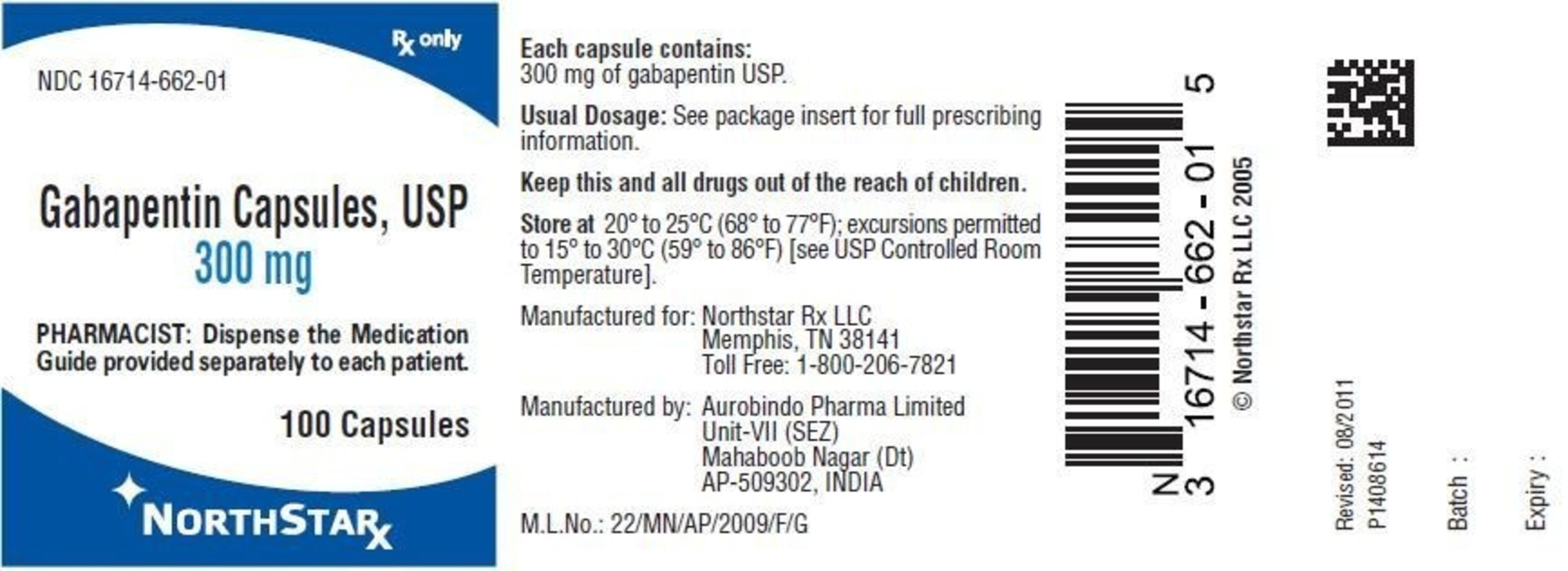 Gabapentin Capsules, USP 300 mg