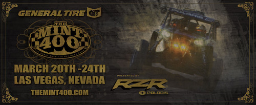 Polaris Industries Joins The 2013 General Tire Mint 400 as Presenting Sponsor