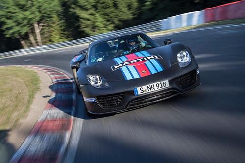 Porsche 918 Spyder with a 6.57 minutes Nurburgring lap record. (PRNewsFoto/Porsche Holding SE) (PRNewsFoto/PORSCHE HOLDING SE)