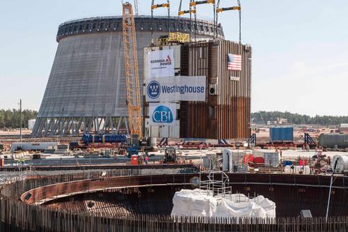 March 10, 2014 - 2.2 million-pound CA20 module placed into Vogtle Unit 3 nuclear island. (PRNewsFoto/Georgia ...