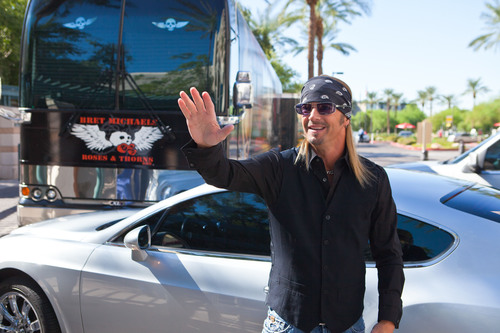 Rocker Bret Michaels thanks the hospital that saved his life on barrow50.org.  (PRNewsFoto/Barrow Neurological ...