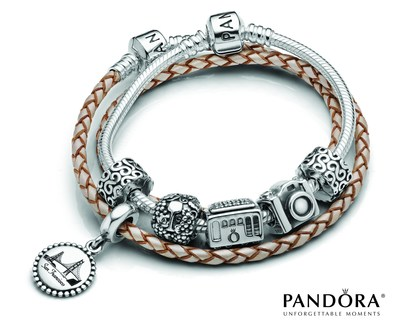 Embark on a New Journey with PANDORA Jewelry's Destination Charms. (PRNewsFoto/PANDORA Jewelry)