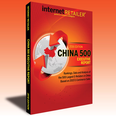 The Internet Retailer 2016 China 500, which ranks the 500 leading web merchants in China by annual web sales, is available in an executive report or in a database version that lets you mine 139 competitive e-commerce metrics, from website traffic, conversion rates, and more.