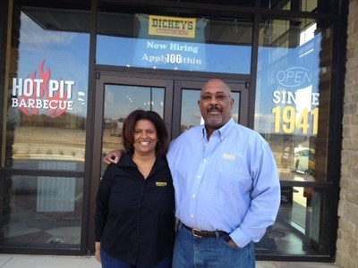 Perry and Maureen Fagan open Dickey's Barbecue Pit on Thursday