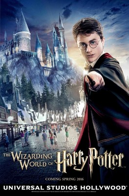 "Universal Studios Hollywood to make big news about ""The Wizarding World of Harry Potter"" on December 8, 2015. HARRY POTTER, characters, names and related indicia are trademarks of and (C) Warner Bros. Entertainment Inc. Harry Potter Publishing Rights (C) JKR. (s15) (C)2015 Universal Studios. All Rights Reserved."