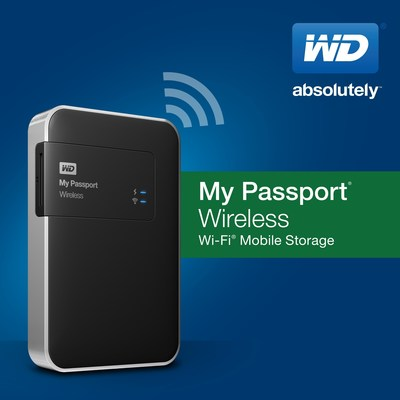 New WD(R) Portable Storage Drive Wirelessly Connects To Smartphones, Tablets Cameras And More