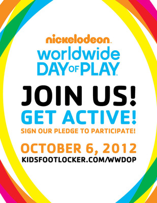Kids Foot Locker Celebrates Nickelodeon's Worldwide Day Of Play.  (PRNewsFoto/Kids Foot Locker)