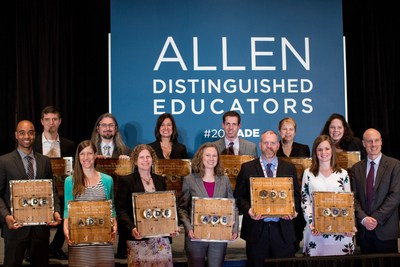 The 2016 Allen Distinguished Educators are awarded at a reception at SXSWedu in Austin, Texas. Accompanying them is Dave Ferrero, Senior Program Officer for Education at Vulcan Inc. (bottom right).