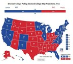 Emerson College Polls: Emerson Map Shows Many Tight Races But a Lopsided Win for Clinton in the Electoral College