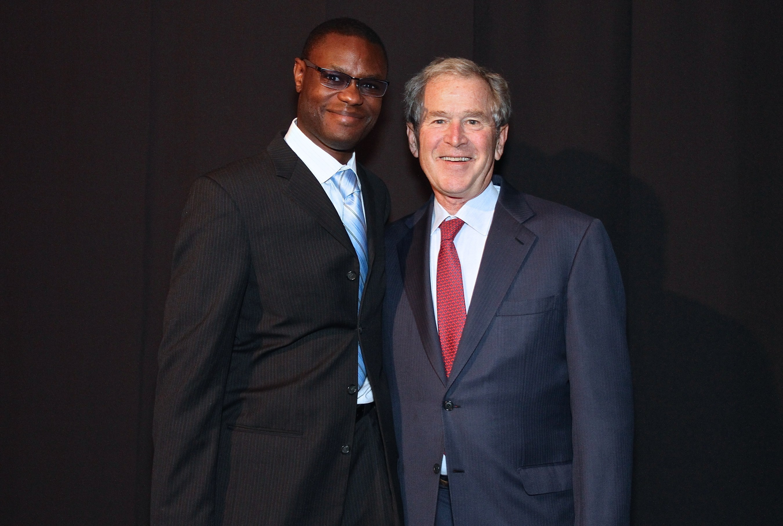 Arthur Wylie (entrepreneur, film producer, philanthropist) and  President George W. Bush at the Inaugural Legacy Project Dinner Honoring President George W. Bush