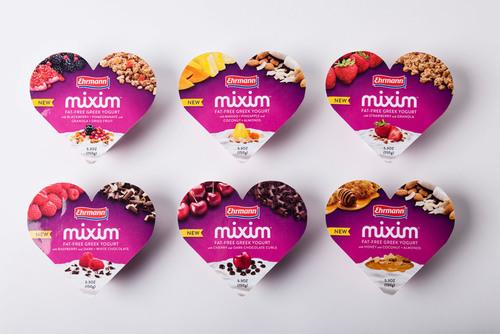 Ehrmann MIXIM Greek Yogurt Product Line.  (PRNewsFoto/Ehrmann USA)
